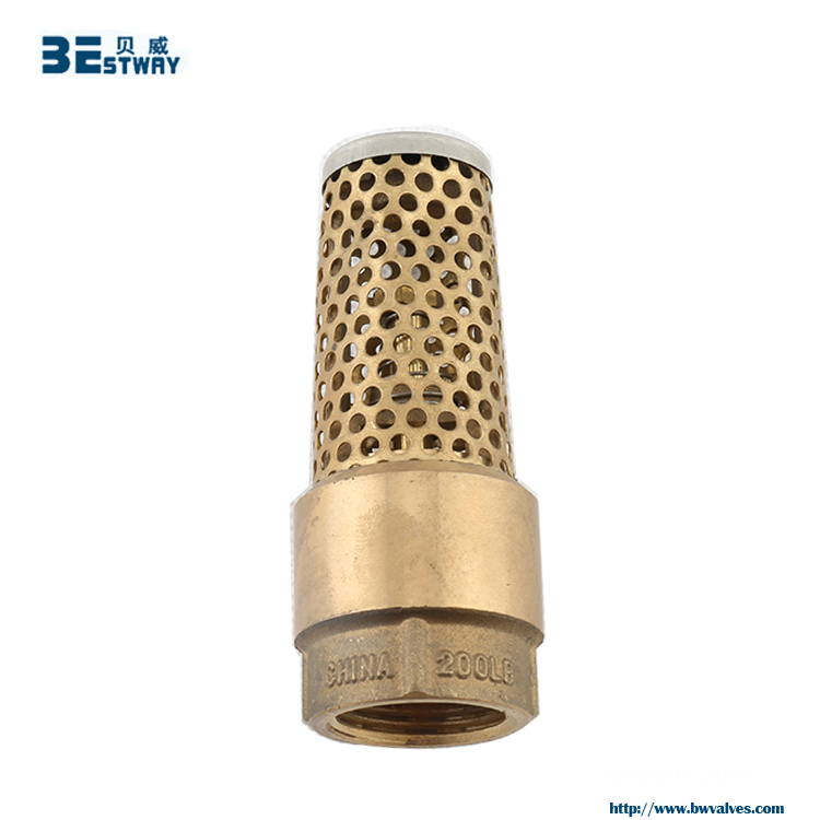 BWVA 2 hours replied quick-install brass foot valve