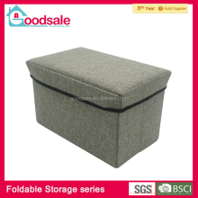 High quality promotion cheap fabric toy storage bins foldable storage bench ottoman