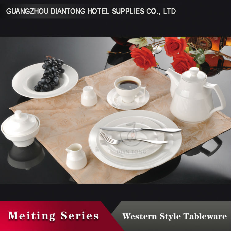white hotel/restaurant special deisgn tableware crockery