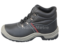 NMSAFETY protection feet PU sole safety shoes steel toe cap leather working shoes