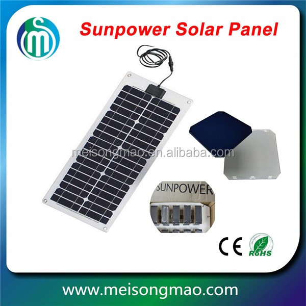Factory direct supply small solar module 30W bendable portable flexible solar panel