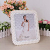 white background wedding hall decoration plastic photo frame