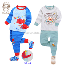 Children night long sleeves kids pajamas