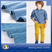 SH-W011 Indigo Yarn Dyed Knitted Jean Fabric Supplier
