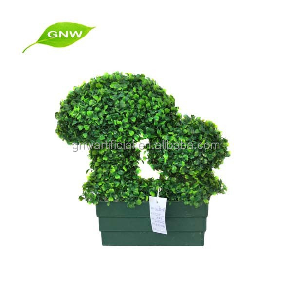GNW BOX1014 artificial green preserved boxwood topiary for restaurant decoration