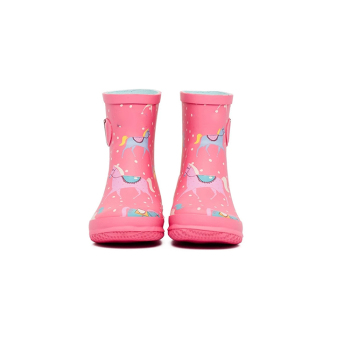 uk hot pink kids horse print rain boots british england kids welly boots