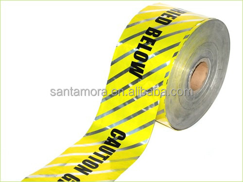 Underground Detectable Aluminum foil Warning Tape for Pipe Cable Warning