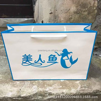 Luxury printed custom made paper shopping bags with handle