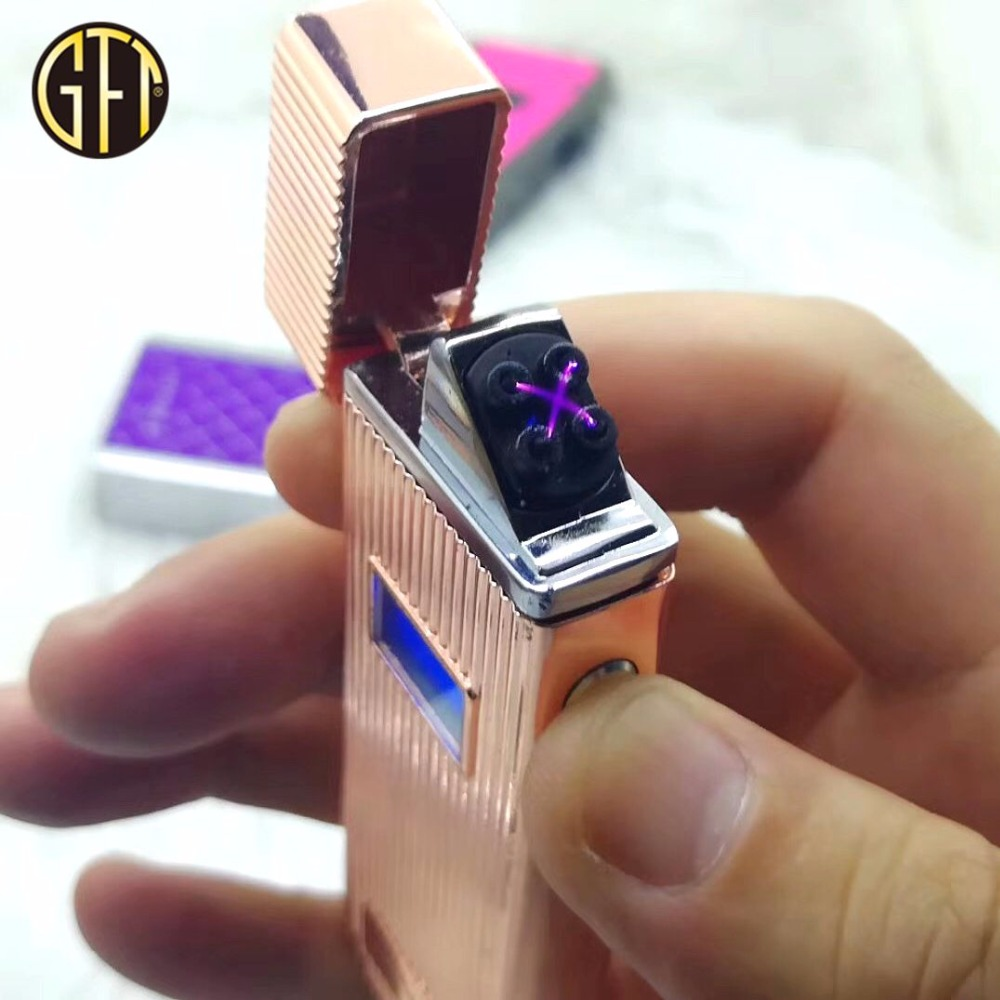 Newest charged colorful electric lighter /hot sale clipper lighter/ plasma lighter