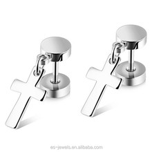 Stainless Steel Jewelry Simple Design Daily Wear Earrings for Boys