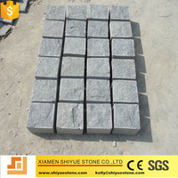 Dark grey cobblestone paving stone for walkway