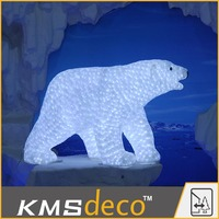 2015 Illuminated Polar Bear Christmas 3d Animals And Figures