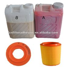 two components polyurethane 100:25 adhesive for filters ISO9001