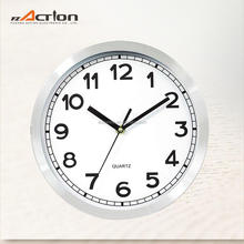 8-16 Inch Aluminum Round Plastic Simple Style Moving Wall Clock with Custom Priting