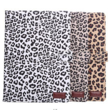 Leopard Leather Wallet Case For iPad 6