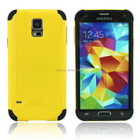 pc+silicone cover rubber case for Samsung galaxy S5