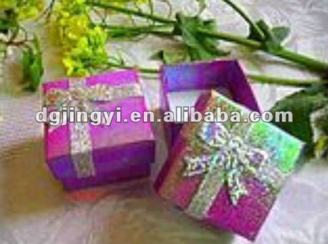 Shiny paper packing gift box