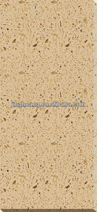 yellow sparkle quartz stone countertop