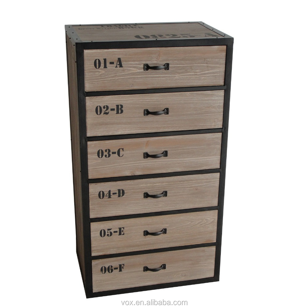 custom made Rustic style home furniture design chest of drawers wood