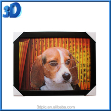 wholesale lenticular 3D moving picture of animal dog