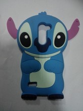 3d cartoon stitch Silicone shenzhen wholesale phone case for lg zone x180