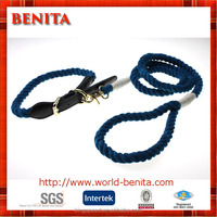 Premium Manufacture Dyeing Rope Dog Collar and Leash