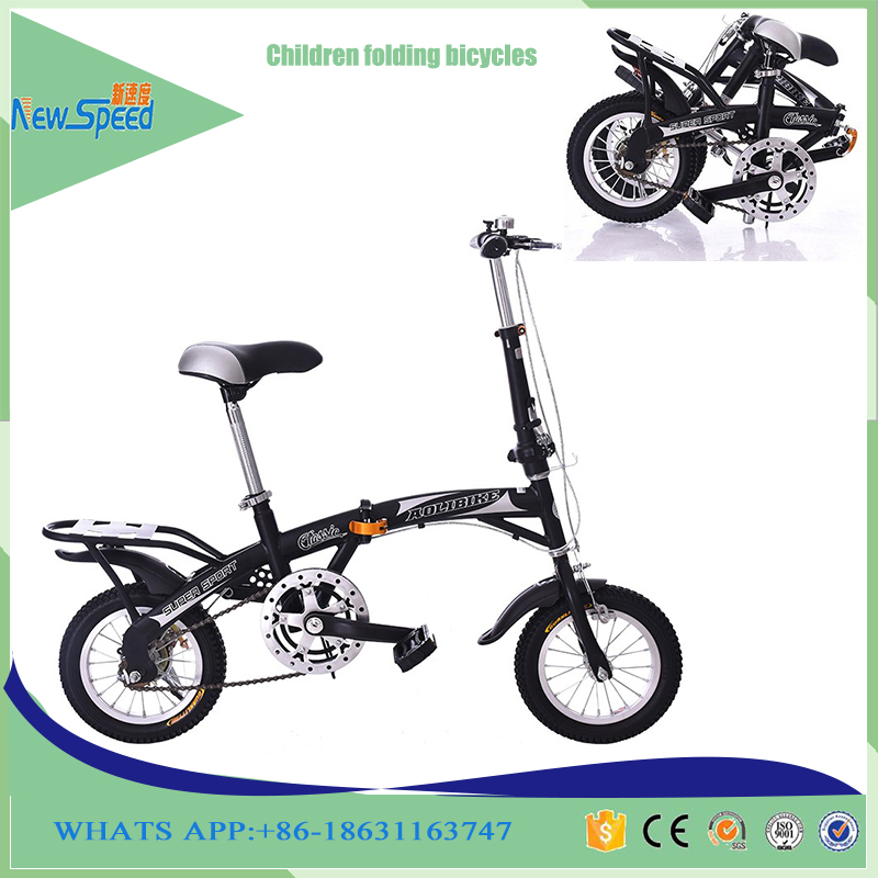 Latest model 12 inch folding bike for kids / 16 super folding bike price /kids foldable bicycle factory student