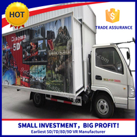 Newest Technology Theme Park Mobile 5D Cinema In Truck