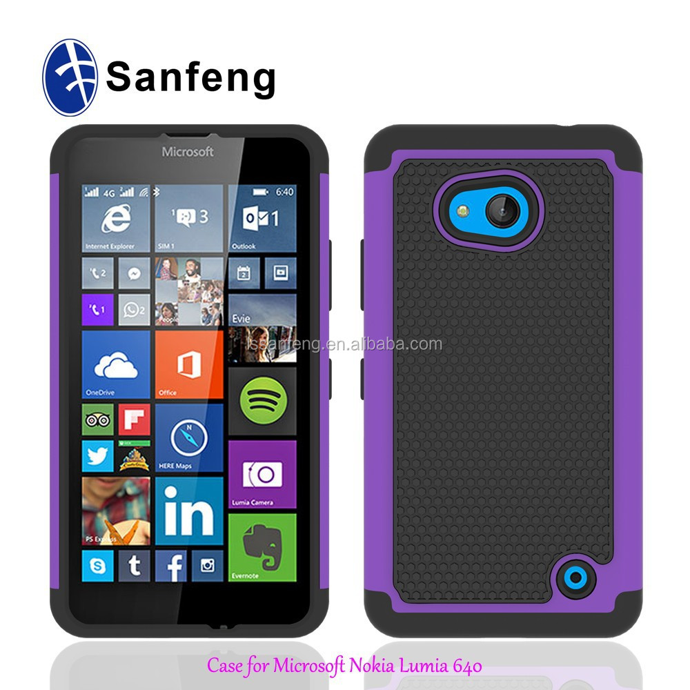 Manufacture Price Pc Silicon Gel Case For Nokia Lumia 640