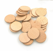 Natural Beech Wood Round pieces wooden blank disc Natural Wood Discs 1.5""