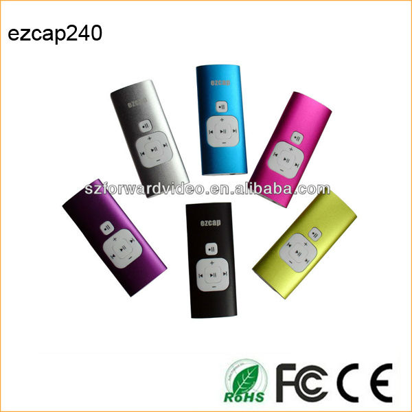 Newest and cheap mp3 music player USB voice recorder phone call recorder ezcap240