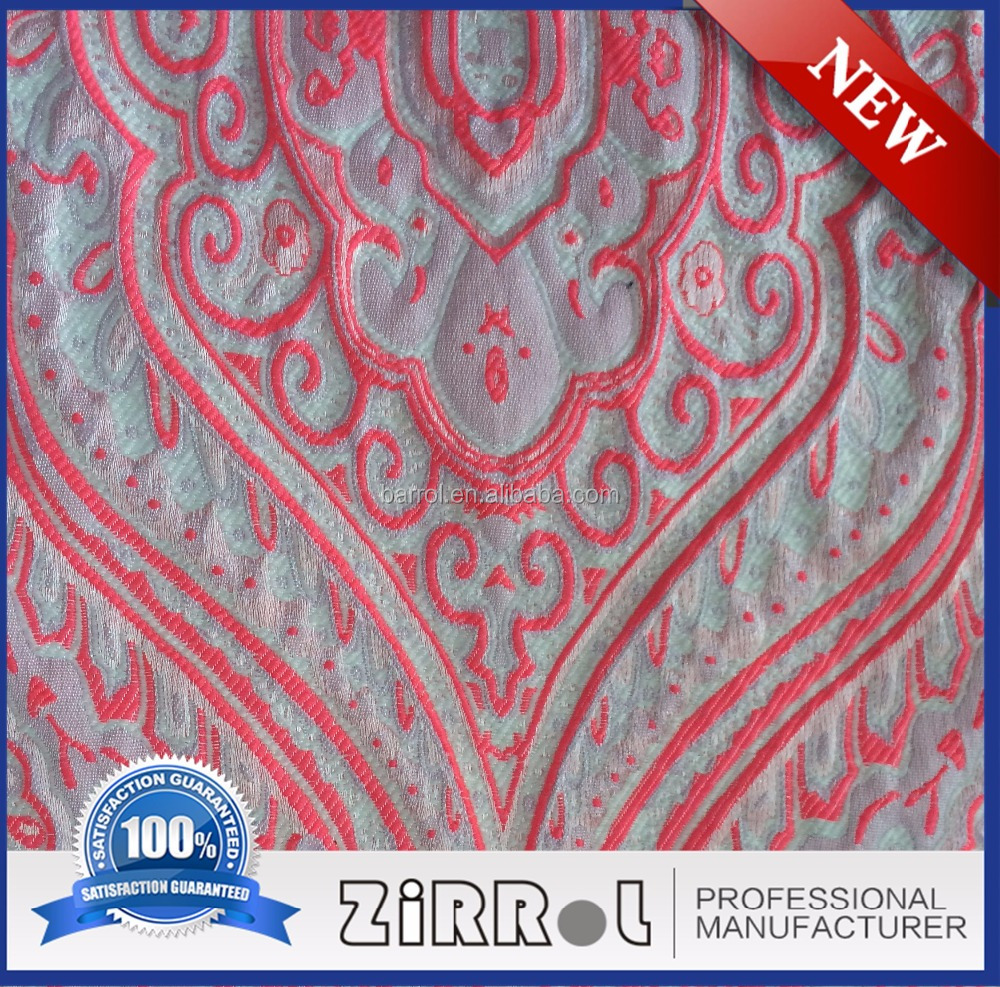 Stretch polyester woven fabric jacquard polyester fabric price per meter