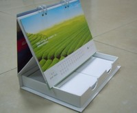 2014 new unique design paper box style calendar custom made Monthly desk calendar for promotion Shenzhen factory fancy price