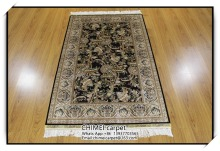 3x5ft living room handmade silk persian carpet and rug H184