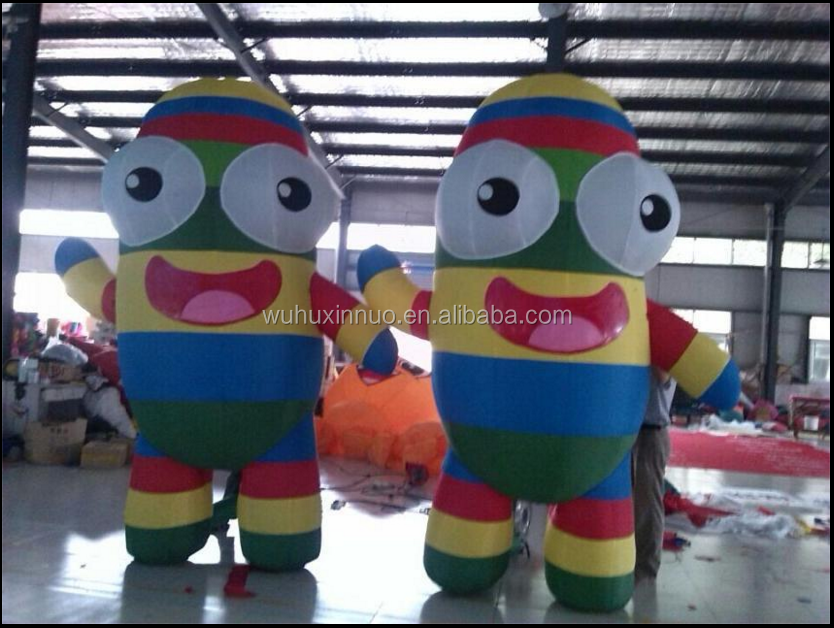 2017PVC inflatable toys cute cartoon charaters inflatable model for promotion