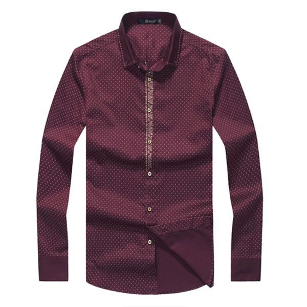 Wholesale red high quality men's dress shirt