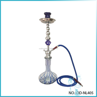 Stylish stripe glass vase shisha crystal stem colored hookah
