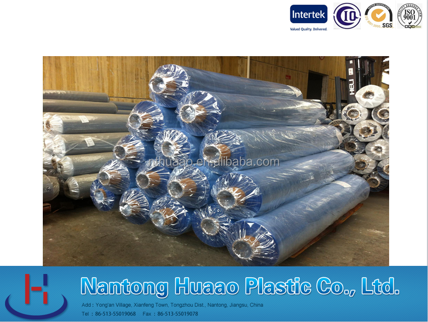 Bed sheeting materials pvc clear film for one off bed sheet materials