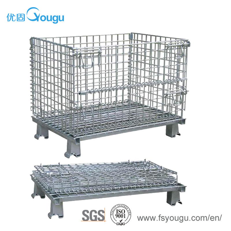Industrial direct supplier steel metal wire mesh stackable storage container box/basket