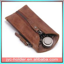best sell leather key wallet ,h0tvurg genuine leather car key case