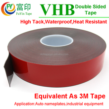 Industrial Two Face Acrylic Glue Foam Adhesive VHB Tapes Die Cut for For Car Parts Decoration