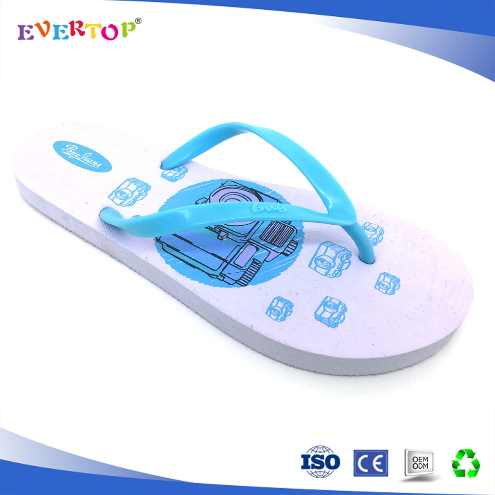 Leisure ladies summer beach eva shoes with fashion nice blue sandals wholesale China custom flip flops best slippers for women