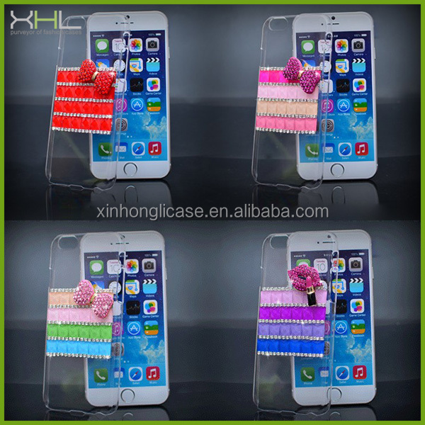 Rhinestone mobile phone cover for iphone 5s, clear crystal case for iphone 5