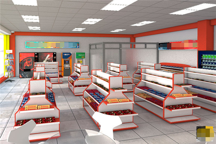 Custom Commercial Retail Store Interior Design For Mini Market Stores - Buy Interior Design For