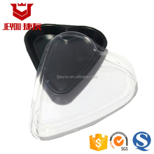 Heart Shape China Manufactory Black Plastic Disposable Sushi Plate