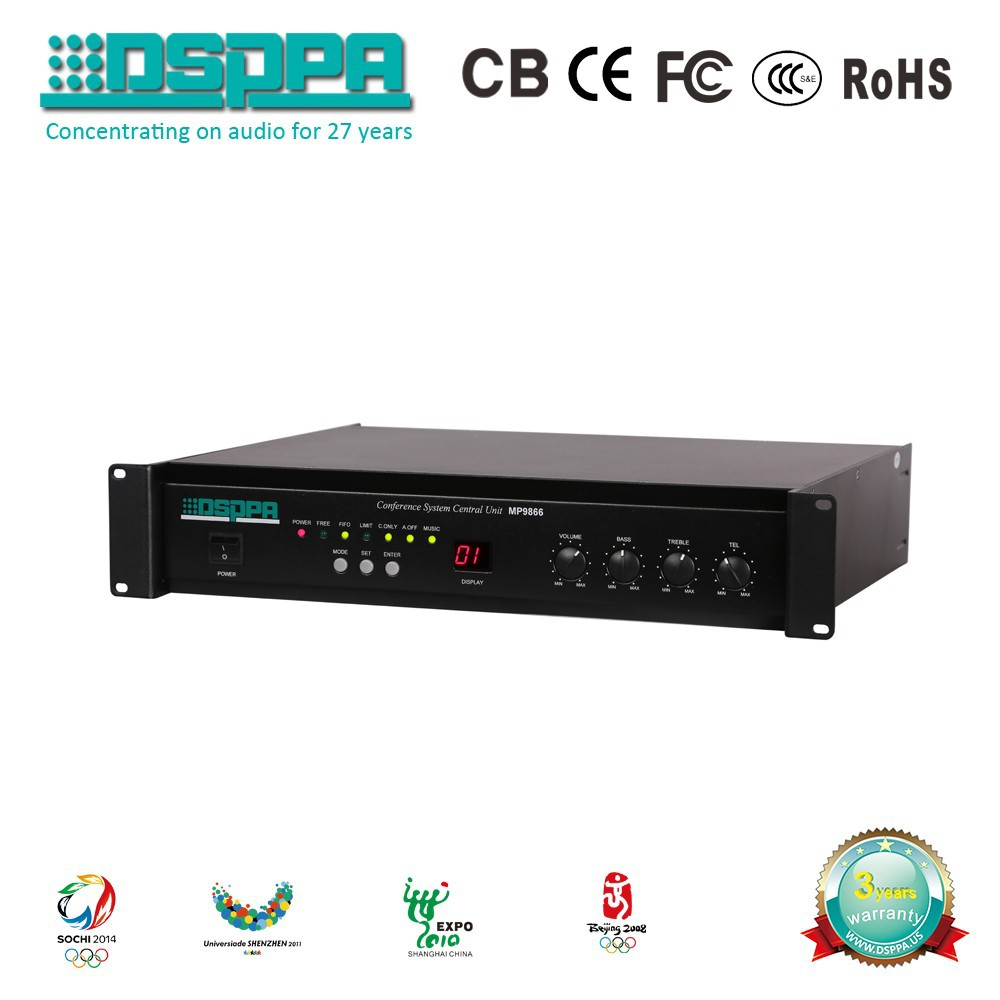 DSPPA MP9866II programming audio digital conference controller for pa system vedio conference system