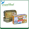 Net weight 125g canned sardine in oil price for sardine canned fish safi