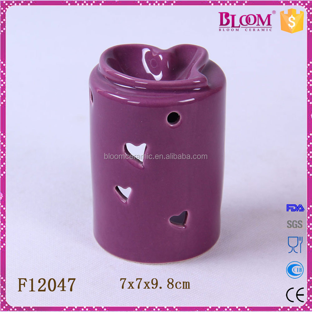 wholesale ceramic oil burners for heart shape desgin