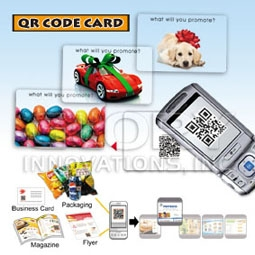 Unique QR(Quick Response) Code Card With Offset Printing