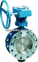 Triple-offset Butterfly valve gear operated